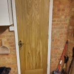 Oak veneer door